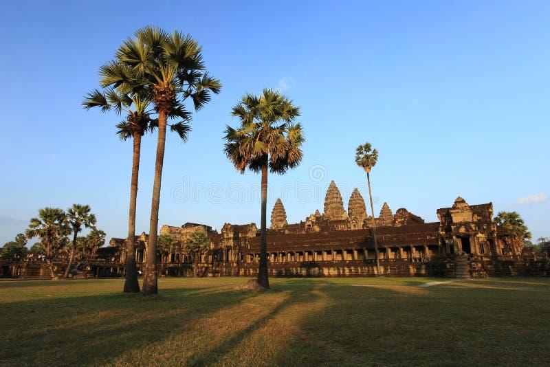 Angkor Wat Temple bei Sonnenuntergang, Tempel von Angkor, Kambodscha lizenzfreies stockfoto