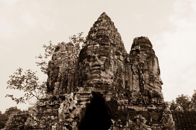 Angkor Wat Temple, cara fotografia de stock royalty free