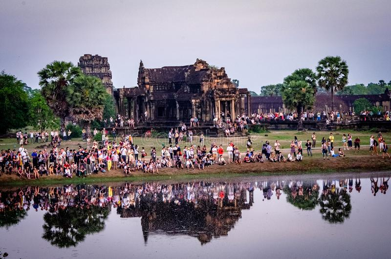 Angkor Wat Temple Carvings Cambodia South East Asia royalty free stock images
