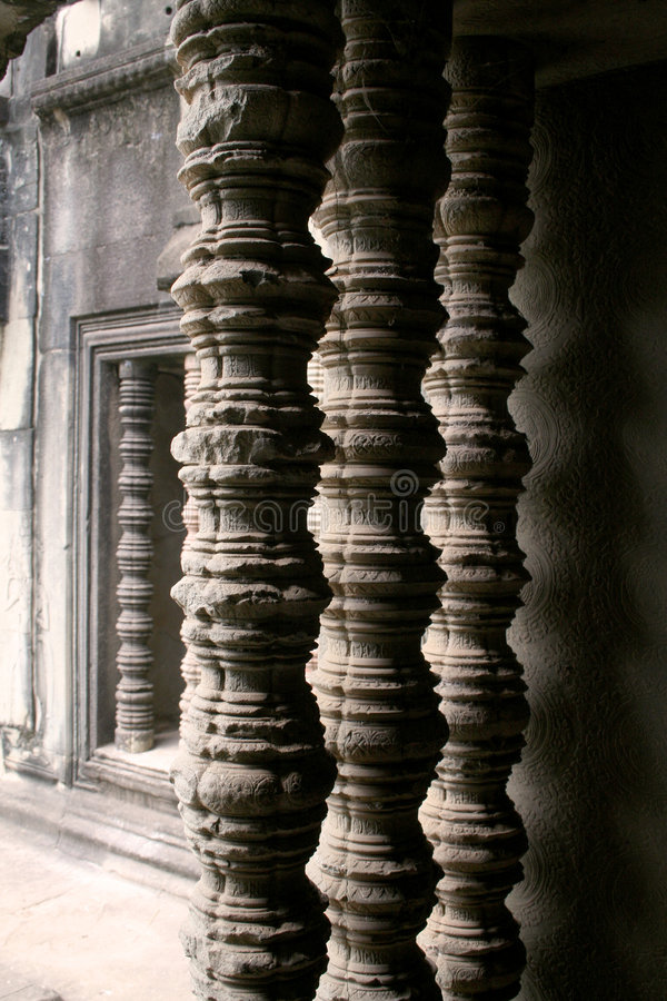 Download Angkor Wat temple columns stock photo. Image of ancient - 7282000