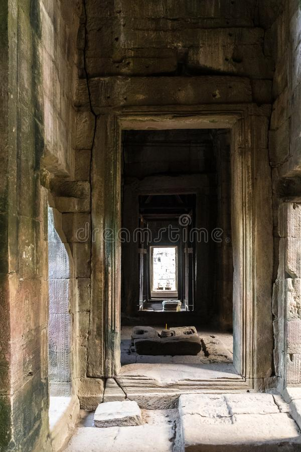 Angkor Wat is a temple complex in Siem Reap, Cambodia stock image