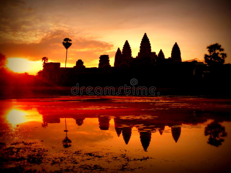 Angkor Wat Temple - Siem Reap - Cambodia stock photo