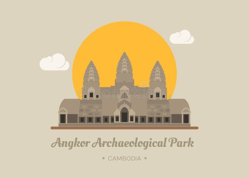 Angkor Wat Temple, Siem reap, Cambodia. Eps10 format royalty free illustration
