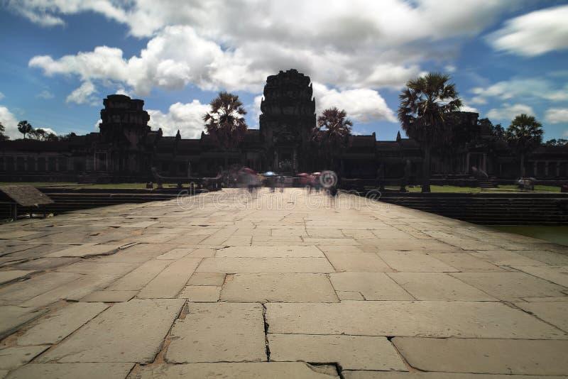 Angkor Wat templo budista antiguo popular del khmer de la atracción turística en Siem Reap, Camboya imagen de archivo