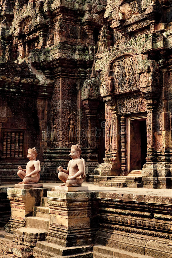 Angkor Wat. , one of the most beautiful and mysterious historical sites in the world. Located over 192 miles to the North-West of Cambodia's capital Phnom stock photo