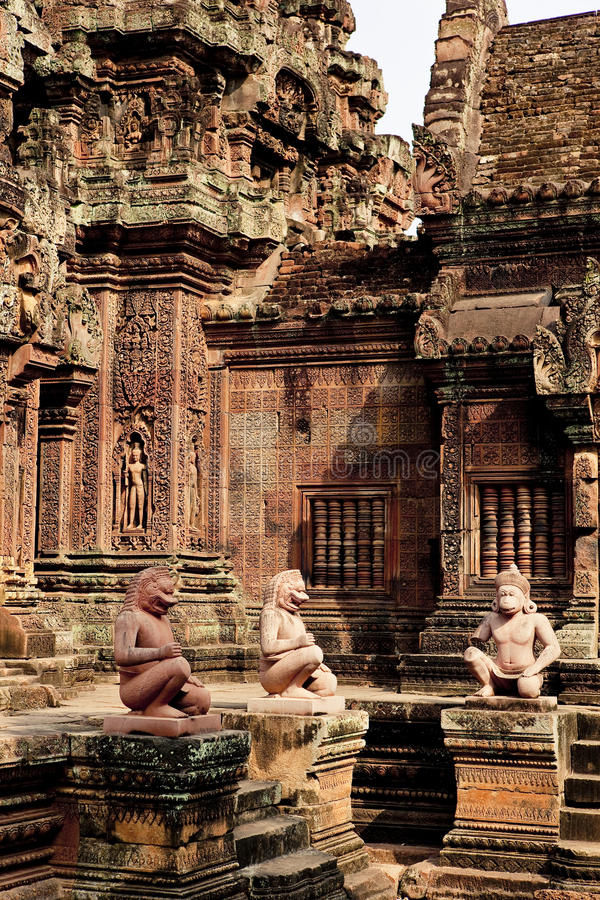 Angkor Wat. , one of the most beautiful and mysterious historical sites in the world. Located over 192 miles to the North-West of Cambodia's capital royalty free stock photo