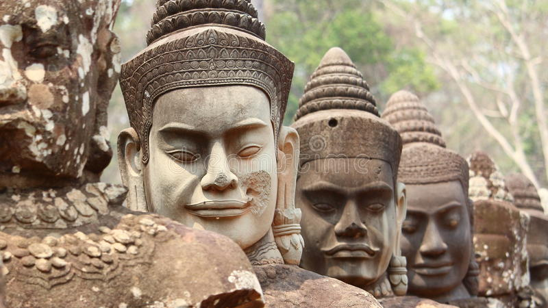angkorcambodia thom royaltyfri fotografi