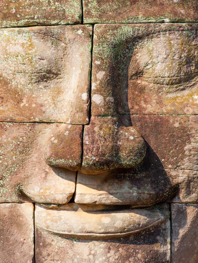 angkorcambodia wat Bayon tempel i den Angkor Thom platsen royaltyfri foto