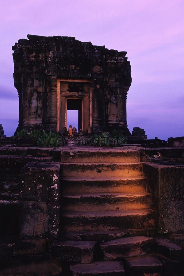 angkoren cambodia fördärvar wat royaltyfri foto