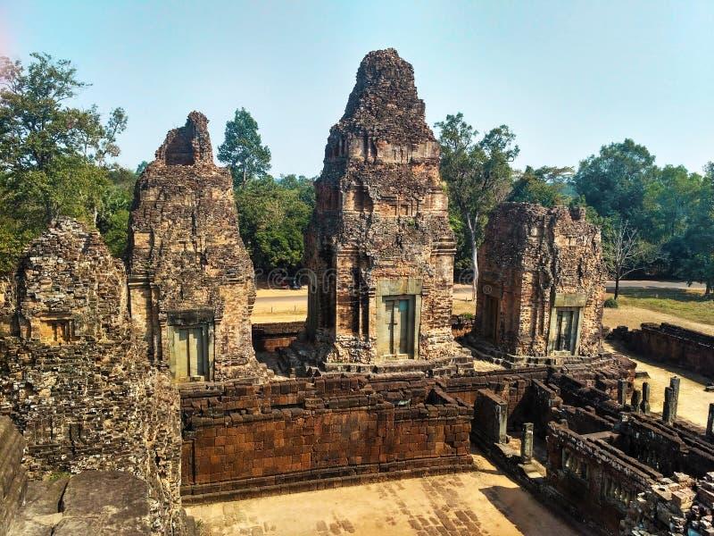 angkoren cambodia fördärvar wat arkivfoto