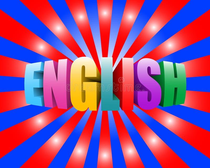 Anglais illustration libre de droits