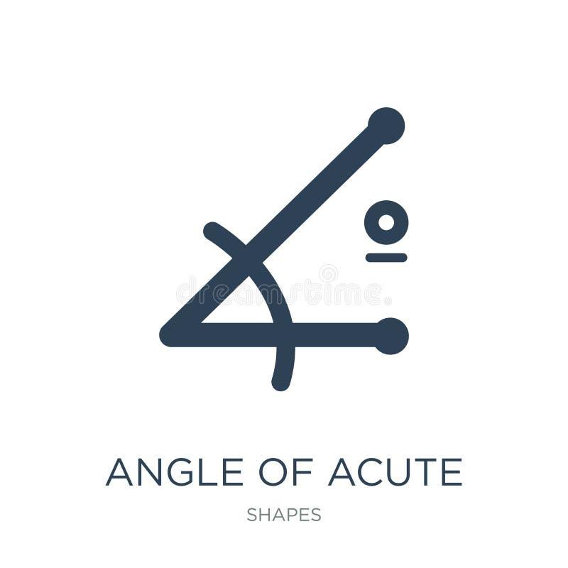 angle d'icône aiguë dans le style à la mode de conception angle d'icône aiguë d'isolement sur le fond blanc angle de l'icône aigu illustration de vecteur
