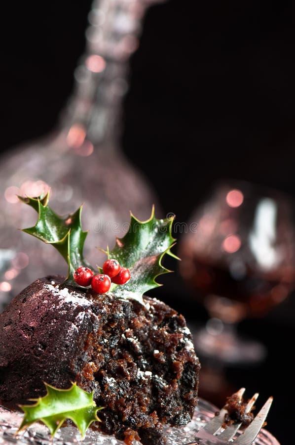 Angle de pudding de Noël photos libres de droits