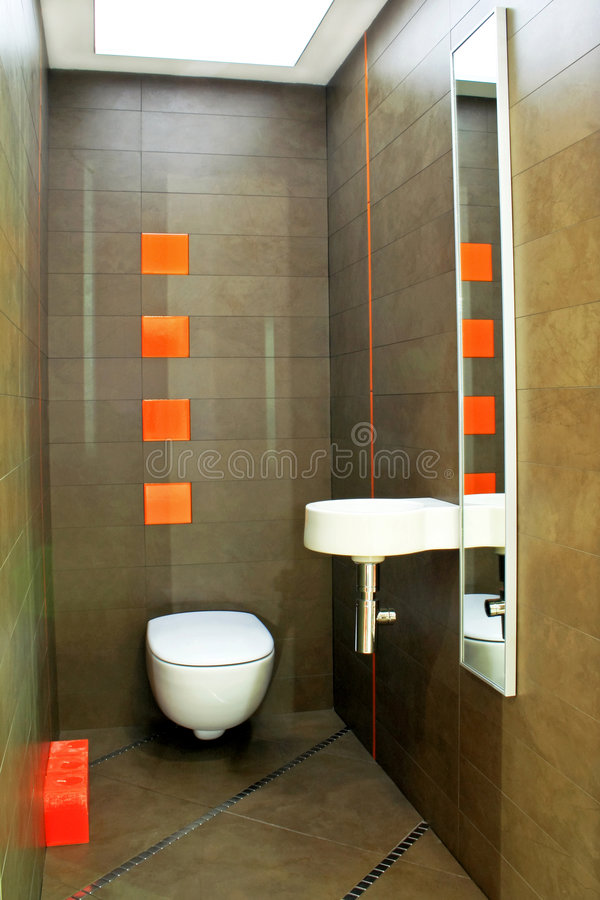 Angle de toilette de Brown images stock