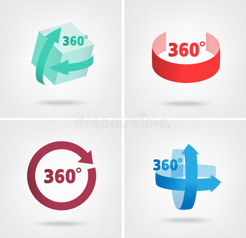 Angle 360 Degrees Sign Icons Stock Vector Illustration Of Quality