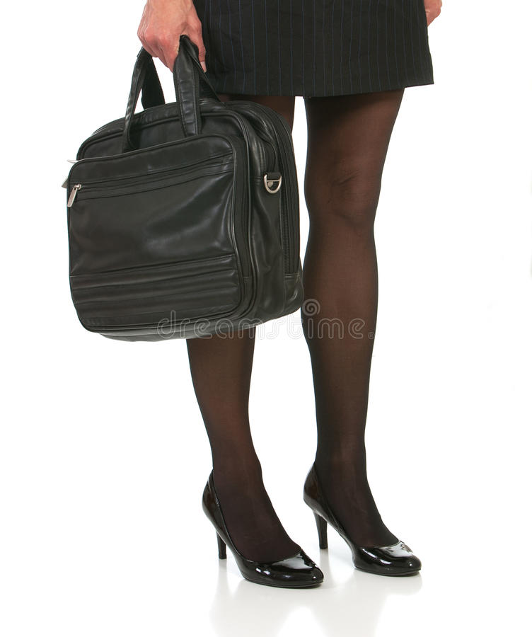 Madame avec les jambes et la serviette sexy images stock