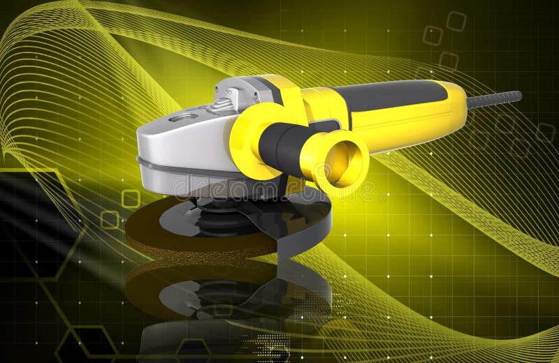 Download Angle grinder stock illustration. Illustration of technology - 23425149