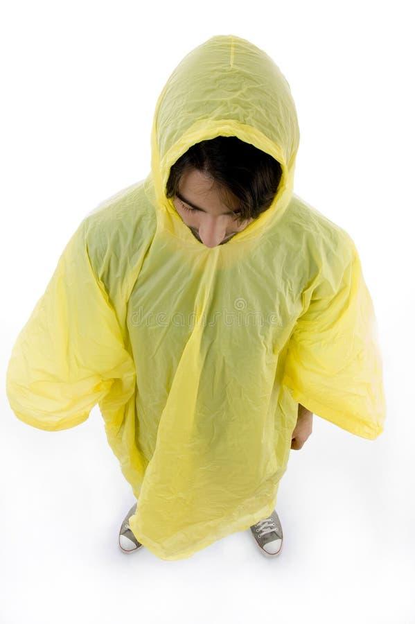 angle high man raincoat standing view wearing στοκ φωτογραφία