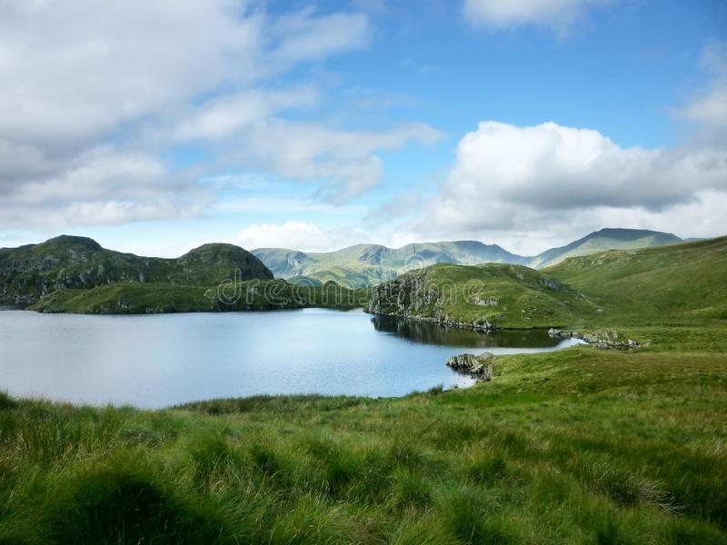 Angle Tarn. South side, Lake District between hamlets of Patterdale and Hartsop stock photography