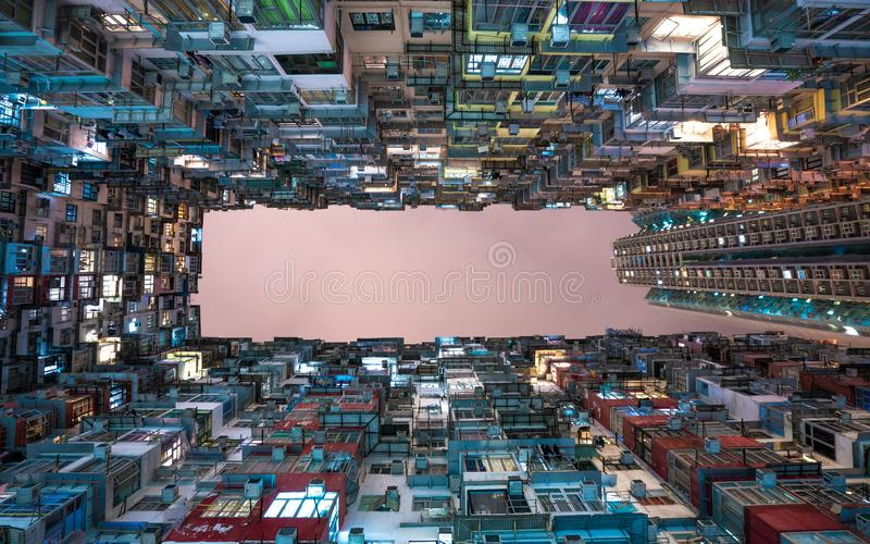 Angle View Of Residential Building stock photo
