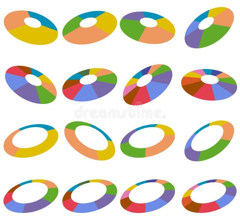 angled колесо эпицентров деятельности бесплатная иллюстрация