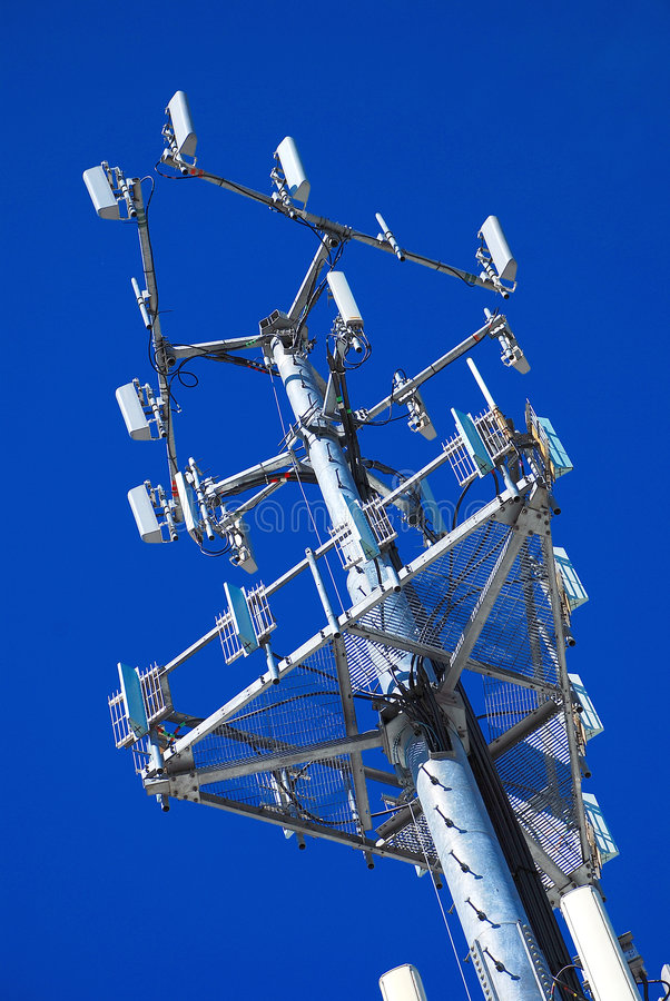 Angled Antenna Panels. For Wireless Telecommunication Phones stock photography