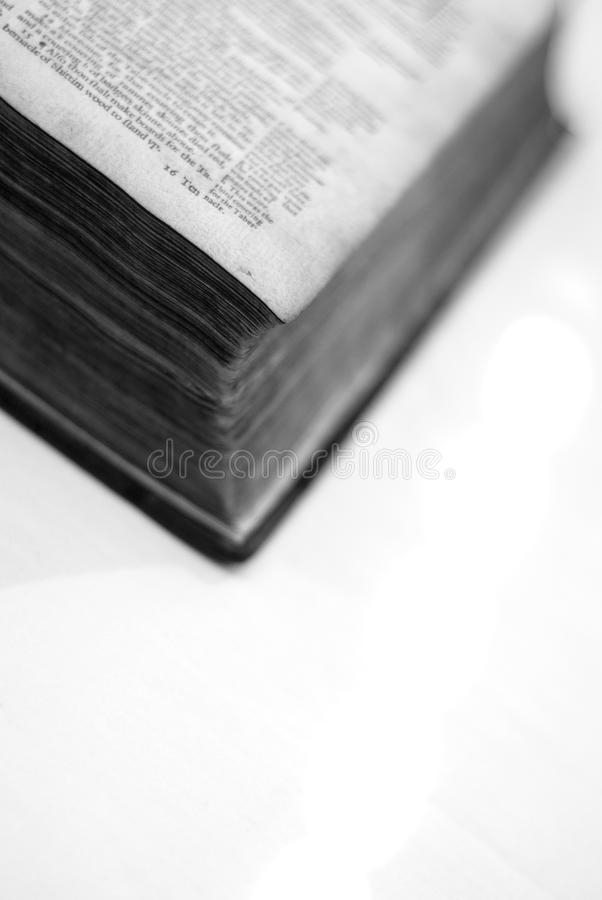 Angled book detail stock image