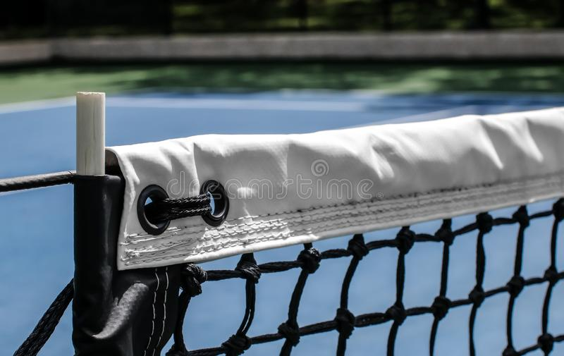 Angled, Close-Up View of Tennis Net royalty free stock photography