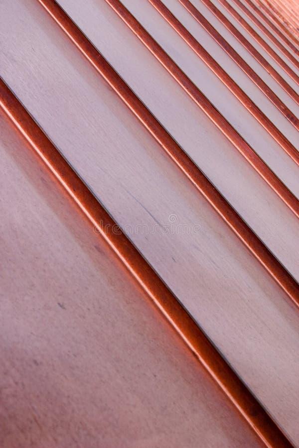 Angled Copper Slats royalty free stock photos