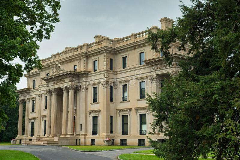 Angled view of Vanderbilt mansion in New York stock photos