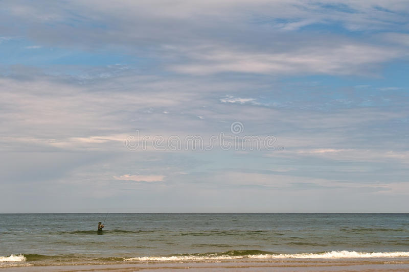 Download Angler. stock image. Image of blue, background, fishing - 25000879