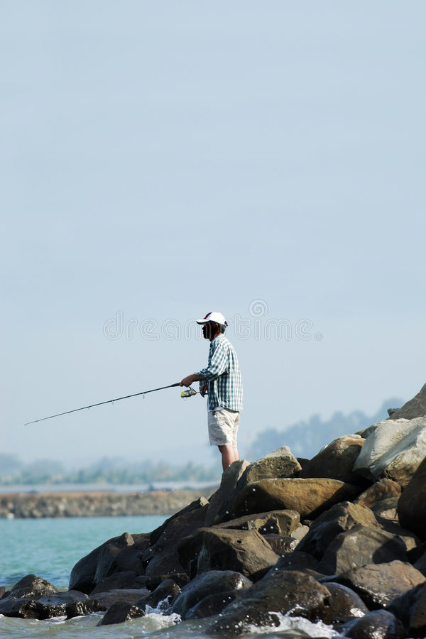 Angler stock photo