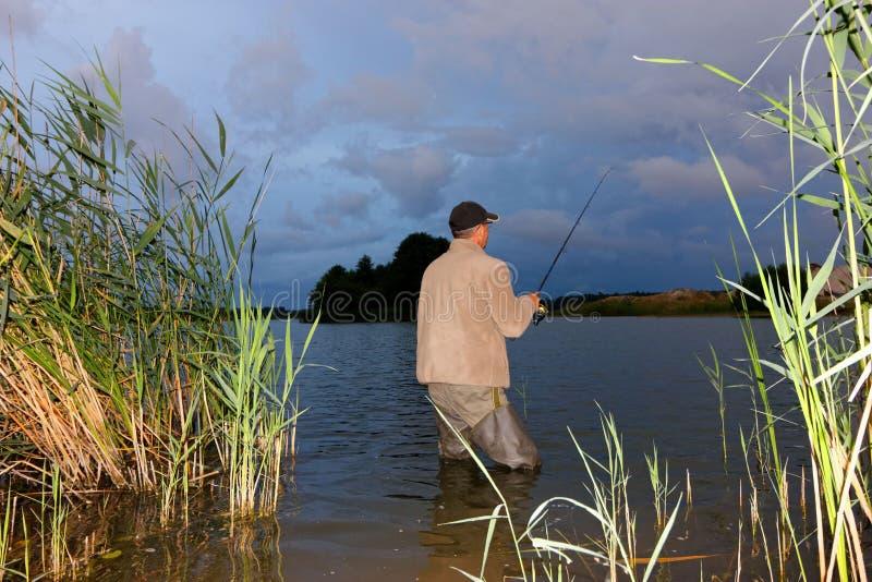Angler royalty free stock image