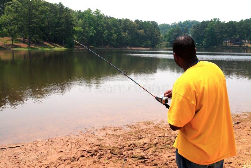 Angler fishing royalty free stock photo