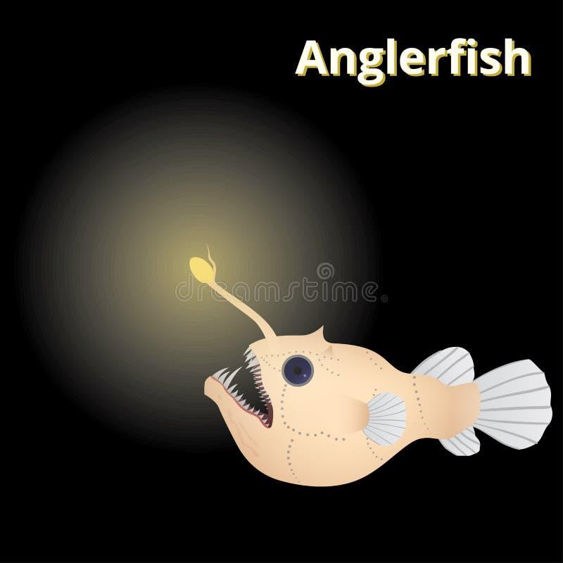 Anglerfish kreskówki styl ilustracji