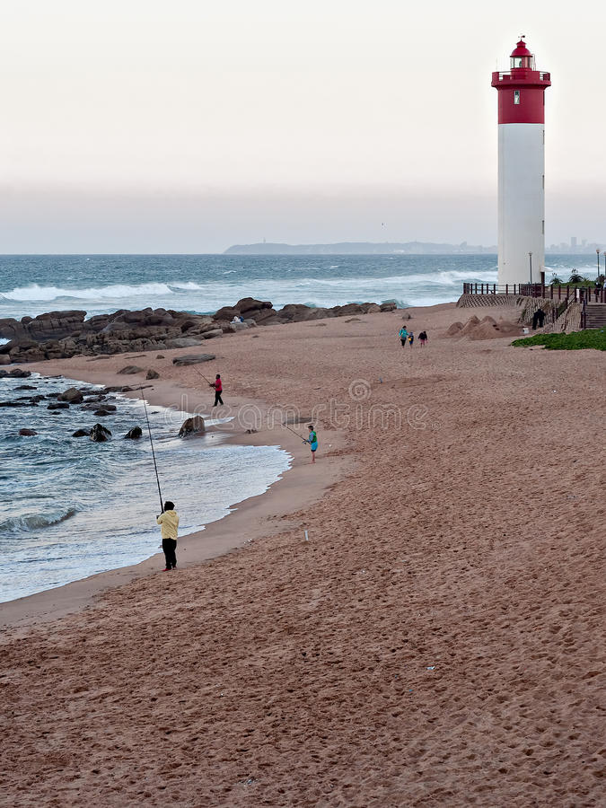 Durban Beachfront Ocean Morning Editorial Stock Image ...