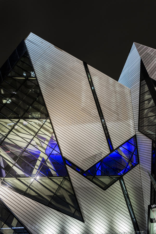 Angles of the ROM. The famous and amazing Crystal at the ROM royalty free stock photos