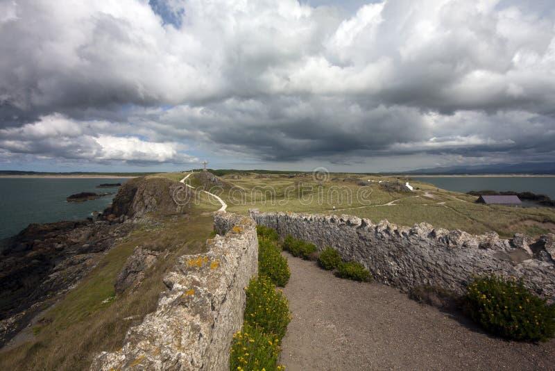 anglesey海岛llanddwyn路 免版税库存图片