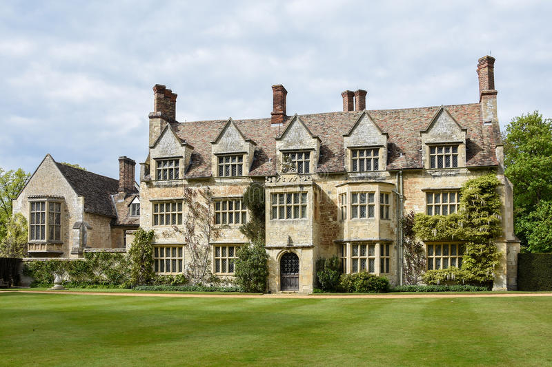 Anglesey Abbey. Manor house on the site of the old abbey on the Anglesey Estate in Cambridgeshire England royalty free stock photos