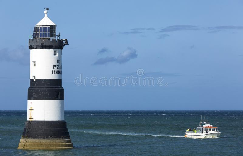 Anglesey, North Wales, Europe,  17th, August 2019: Penmon Lighthouse stock photo