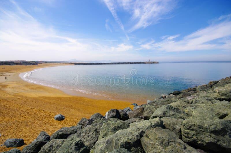 anglet海滩法国 免版税图库摄影