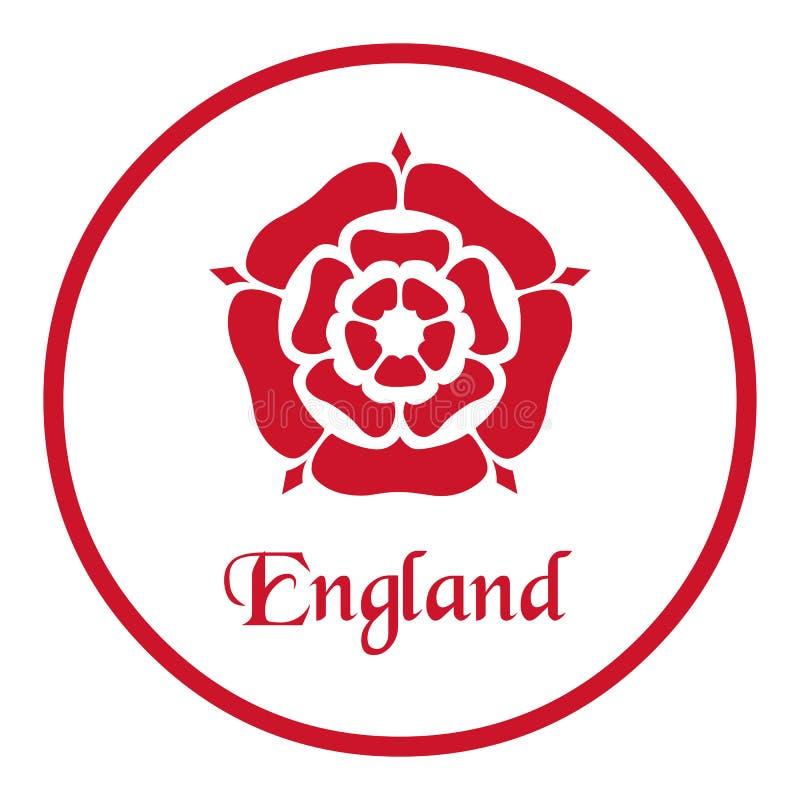 Anglia emblemat z Tudor Wzrastał na bielu ilustracja wektor