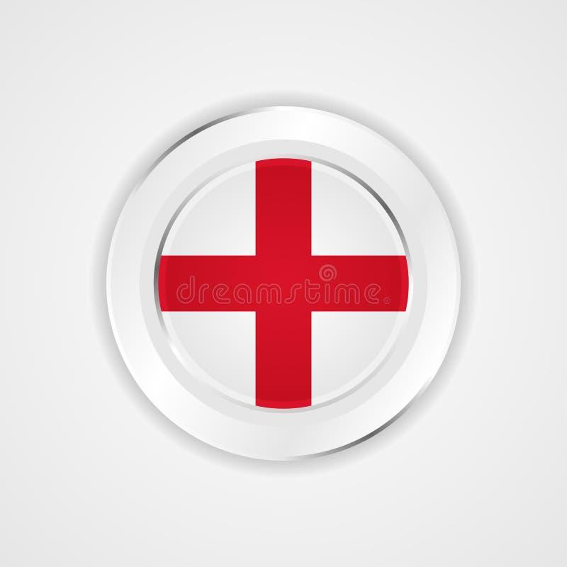 Anglia flaga w glansowanej ikonie royalty ilustracja