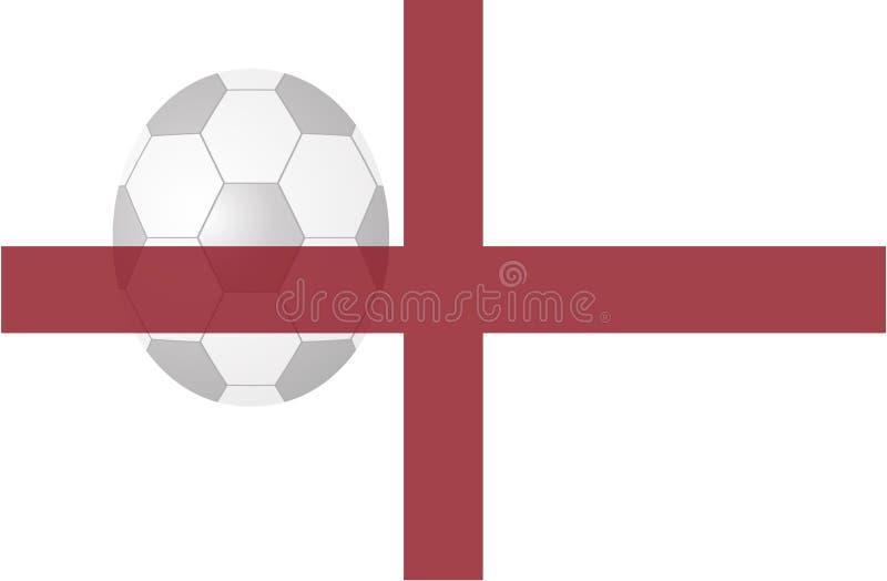 Anglia flaga z piłki nożnej piłką zdjęcia stock