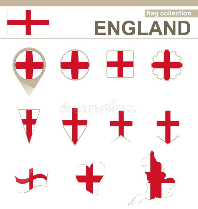 Anglia flagi kolekcja ilustracji