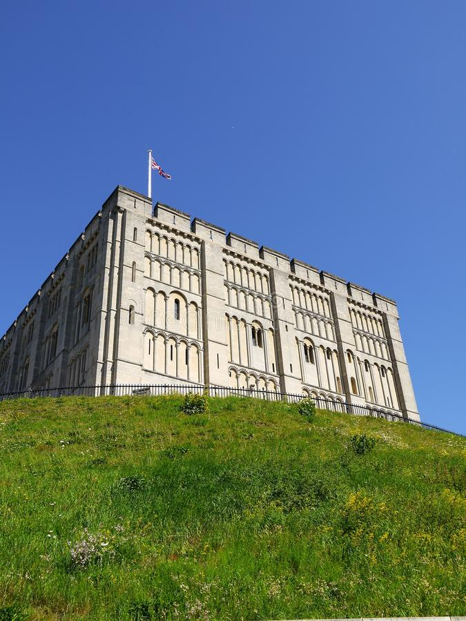 Anglia: Grodowy Norwich wzgórze zdjęcie royalty free