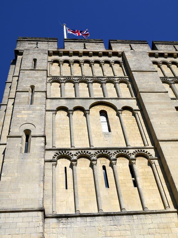 Anglia: Norwich kasztelu szczegół zdjęcia stock