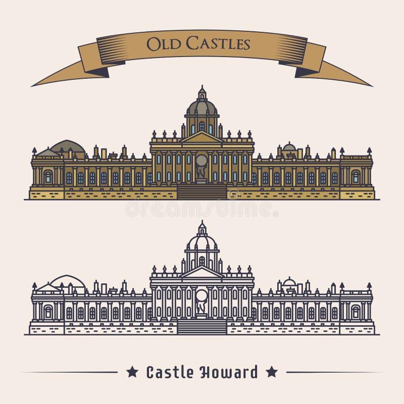 Anglia północny Yorkshire Howard kasztel royalty ilustracja