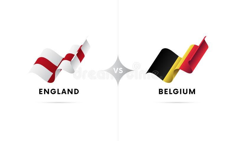Anglia versus Belgia Futbol również zwrócić corel ilustracji wektora ilustracja wektor
