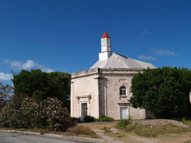 anglican Antigua kościelny parham peters st miasteczko obraz royalty free